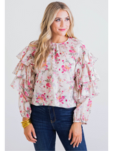 Load image into Gallery viewer, Floral Ruffle Sleeve Top