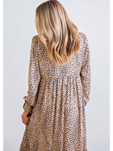 Load image into Gallery viewer, Leopard Hi-Lo Long Sleeve Dress