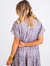 Load image into Gallery viewer, Leopard Midi BoHo Dress