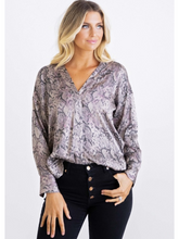 Load image into Gallery viewer, Snake Button Down Blouse