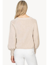 Load image into Gallery viewer, Button Sleeve Raglan Sweater