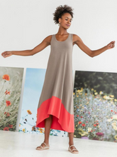 Load image into Gallery viewer, Colorblock Maxi Dress