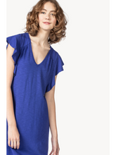 Load image into Gallery viewer, Ruffle Sleeve V-Neck Dress