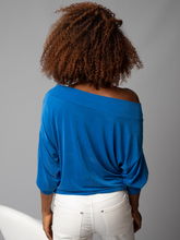 Load image into Gallery viewer, Tie Front Off The Shoulder Blouse