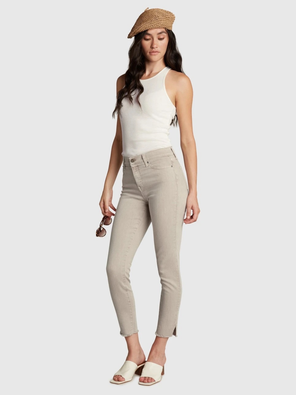 Gem High Rise Skinny Ankle - Sandstone