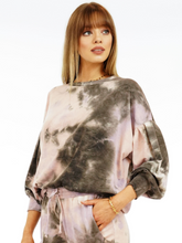 Load image into Gallery viewer, Primrose Tie Dye French Terry Crew Sweatshirt