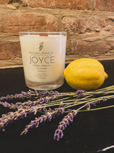 Load image into Gallery viewer, Joyce (Lemon Verbena-Lavender-Vanilla) Soy Blend Candle
