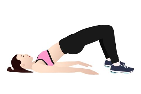 Illustration of a woman doing a kegel exercise