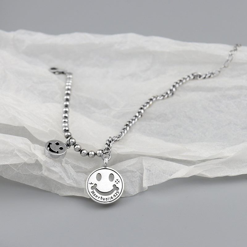 Luckacco S925 Japanese and Korean style New Sterling Silver Bracelet with versatile temperament - luckacco