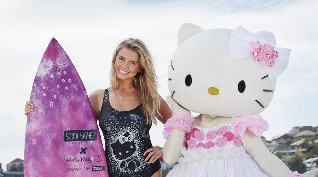 Yuko Yamaguchi, Hello Kitty and Tegan Martin visit Bondi to launch the collection