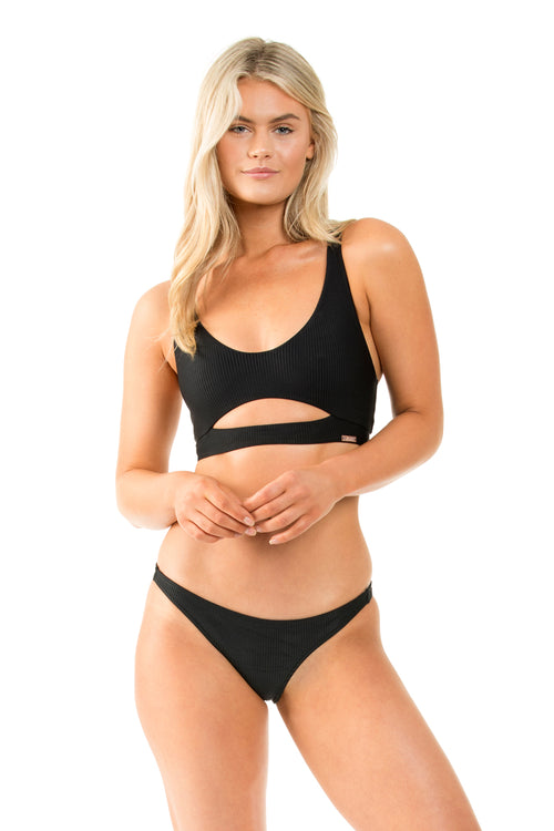 BLACK RIB AUSTRALIAN CUT BOTTOM