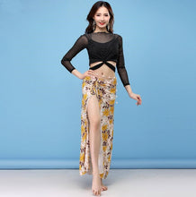Load image into Gallery viewer, Belly Dance Top & Skirt Set Lesson Wear Set W-2004