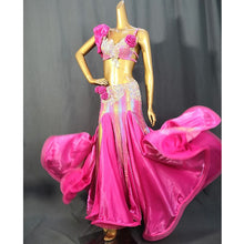 Load image into Gallery viewer, Belly Dance Costume Bra & Skirt Set Red / Hot Pink TF2052 ★Group split