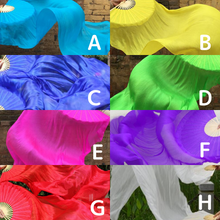 Load image into Gallery viewer, Monochromatic fan veil all 8 colors 120cm/150cm/180cm/210cm W-1608