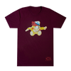 Cookie Puss Maroon T-Shirt