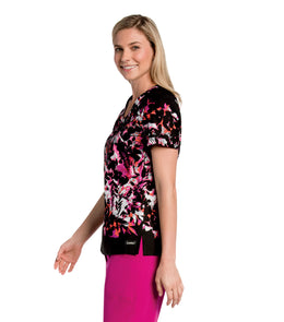 Landau Women's Smart Stretch Napa V-neck Print Scrub Tops