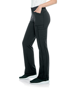 Urbane Impulse Interlock Womens Cargo Pant With Exposed Elastic Waist