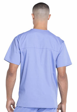 Cherokee Workwear Men's V-Neck Utility Solid Scrub Top