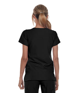 Greys Anatomy  Signature Women's 2 Pkt Notch Nk Yoke Top