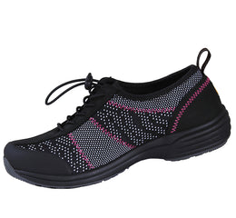 Urbane Women's Excel Mesh Athletic Shoe With Bungee Tie