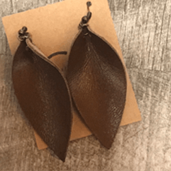 Brown Fold Over Earrings