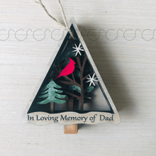 Load image into Gallery viewer, Memorial Cardinal Ornament
