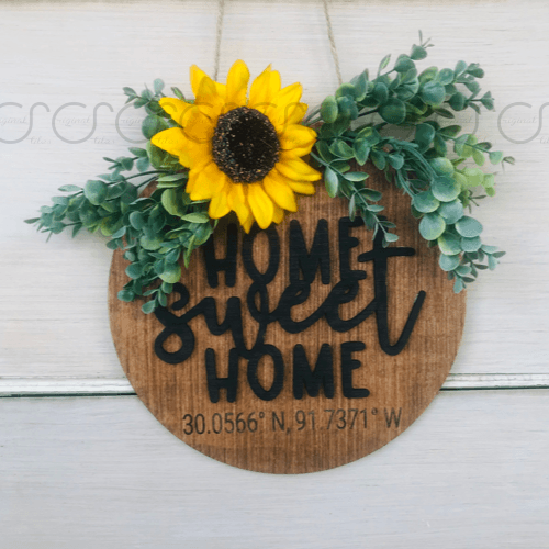 Home Sweet Home Coordinate Door Hanger