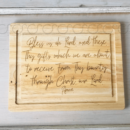 Grace before Meals Prayer Cutting Board