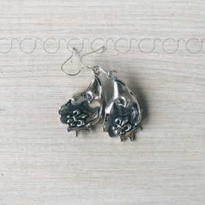 Oyster Shell Fleur De Lis Shaped Earrings