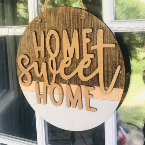 Home Sweet Home Round Door Hanger