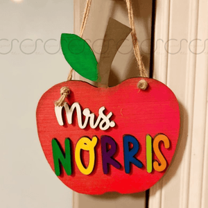 Apple Door Hanger for Teachers