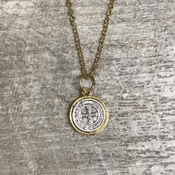 St. Benedict Two Toned Necklace
