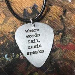Where Words Fail, Music Speaks: Guitar Pic Necklace