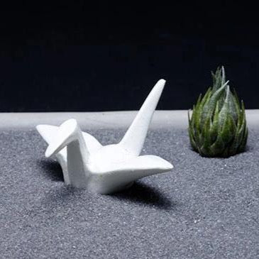 Origami Crane - Zen Garden Accessory | Stress Relief, Meditation Garden, Mindfulness, Desk Garden, Desk Accessory, Office Decor, Zen Gift