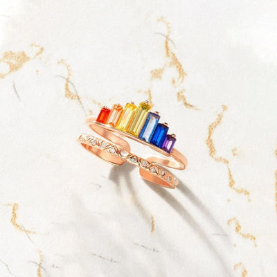 Rainbow Micro Diamond Ring