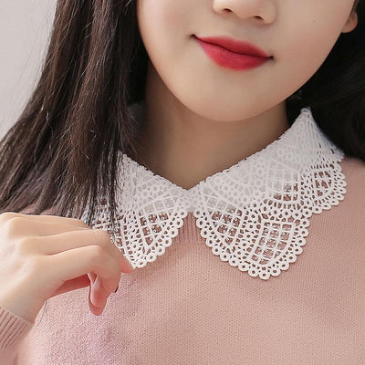 Lady Shirt False Lace Collar