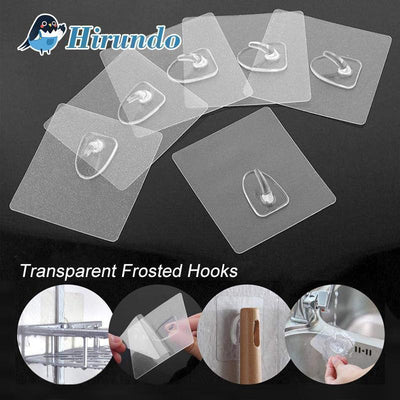 Hirundo® Waterproof Reusable Seamless Sticky Transparent Frosted Hooks