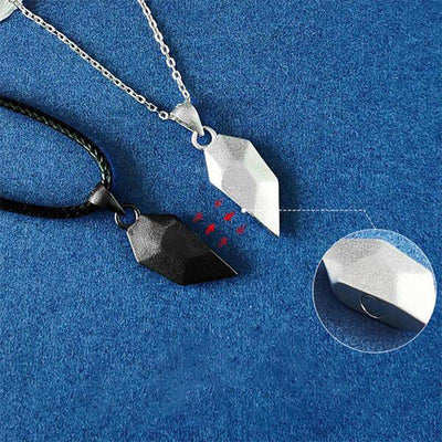 Couple Heart Stitching Necklace