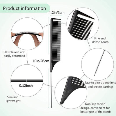 Professional Plastic Pointed Tail Comb
