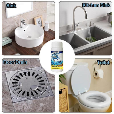 Powerful washbasin and drain cleaner