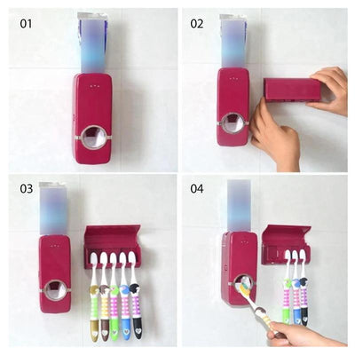 Wall Mounted Toothbrush Station
