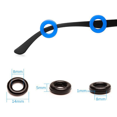 Anti-Slip Round Comfort Glasses Retainers(5 pairs)
