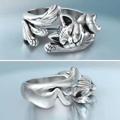 Alloy Cat Lovers Cat Ring(Valentine's Day, Mother's Day Gift)