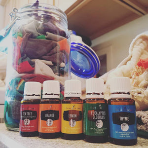 Upcycled Wipes Coming Up Rainbows Oil Bundle with Jar