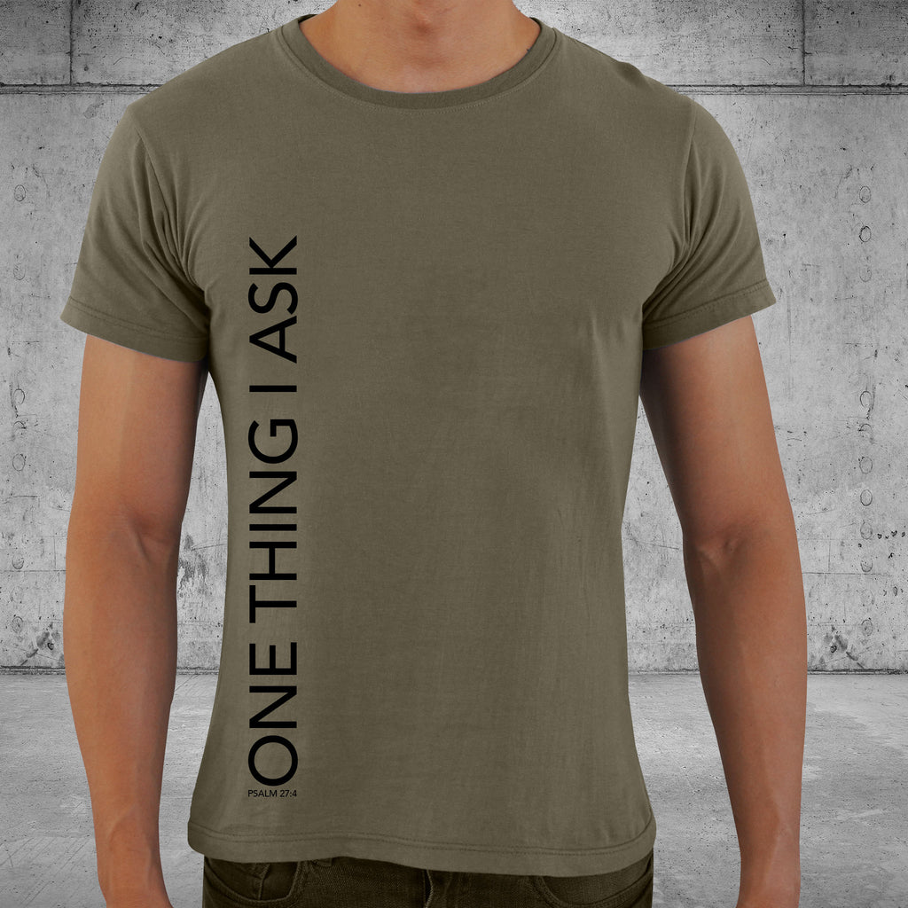 ONE THING - Olive Crew Neck