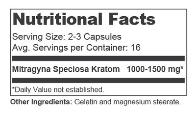 Capsules 50 Nutrition Facts