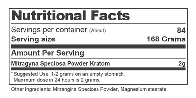 Container 6oz Nutrition Facts