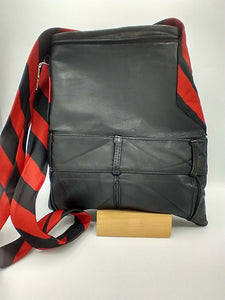 The Belted Black Leather Crossbody Bag