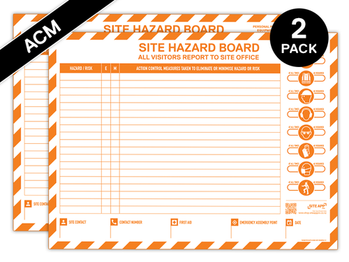 Custom Branded ACM Hazard Board - 2 Pack
