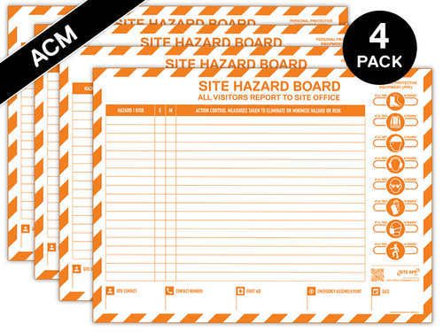 Custom Branded ACM Hazard Board - 4 Pack